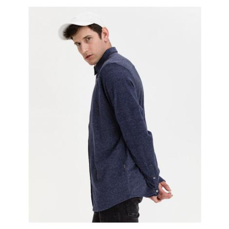 Blaue elegante herrenhemden