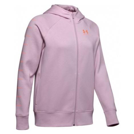 Under Armour RIVAL FLEECE SPORTSTYLE LC SLEEVE GRAPHI hellrosa - Damen Sweatshirt