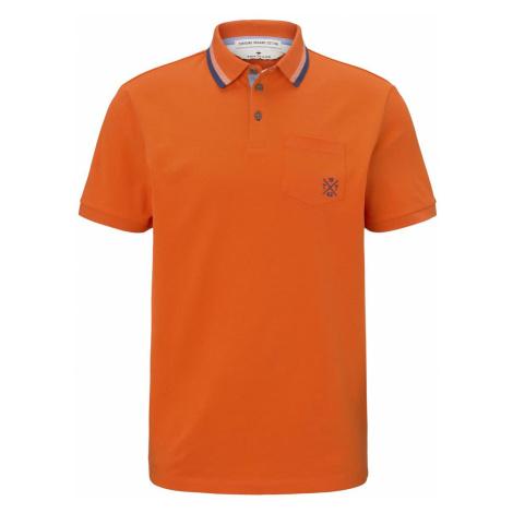 TOM TAILOR Herren Poloshirt mit Brusttasche, orange