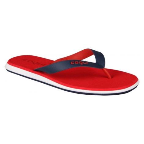 Rote pantoletten und  flip flops für herren