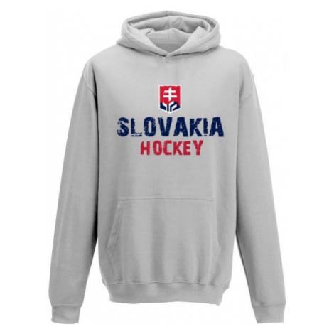 Střída KLOKANKA NAPIS SLOVAKIA HOCKEY grau - Kinder Sweatshirt