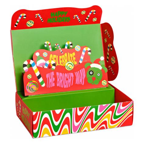 Happy Socks Geschenkbox PSYCHEDELIC CANDY CANE 4-PACK XSAN09-0100 Mehrfarbig
