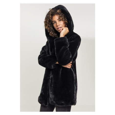Urban Classics Ladies Hooded Teddy Coat black