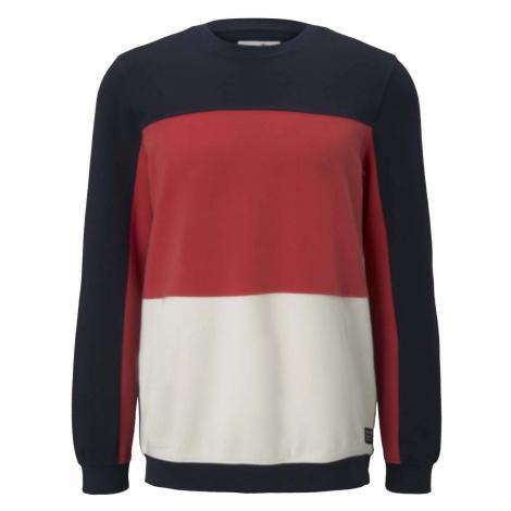 TOM TAILOR DENIM Herren Sweatshirt im Colour Blocking, blau