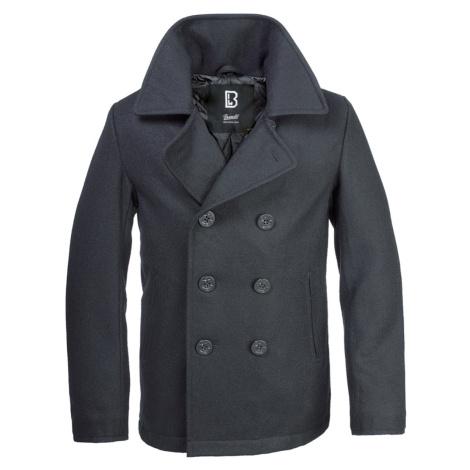 Männer Mantel Winter Brandit - Pea Coat - Black - 3109/2 (9156/2)