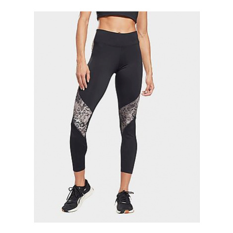 Reebok modern safari panel leggings - Black / Boulder Grey - Damen, Black / Boulder Grey
