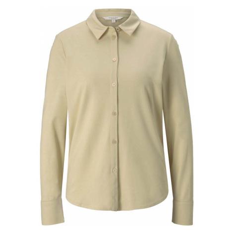 TOM TAILOR MINE TO FIVE Damen Langärmliges Blusenshirt, beige