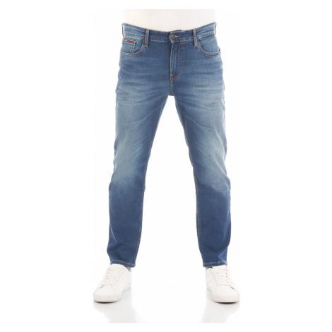 Tommy Hilfiger Herren Jeans Ryan - Relaxed Straight Fit - Blau - Wilson Mid Blue Stretch