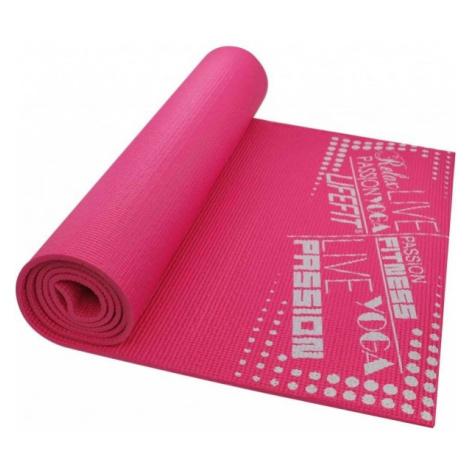 SPORT TEAM LIFEFIT SLIMFIT rosa - Fitnessmatte