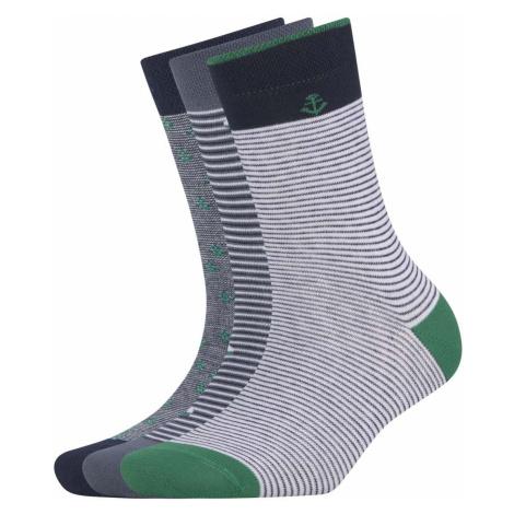 TOM TAILOR Kinder Marine Socken im Dreierpack, grün