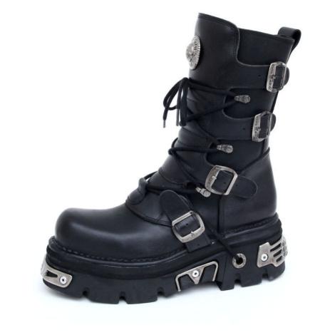Lederschuhe Frauen - Basic Boots (373-S4) Black - NEW ROCK - M.373-S4