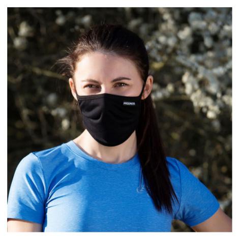 Progress GESICHTSMASKE MIT TÄSCHCHEN schwarz - Gesichtsmaske mit Täschchen
