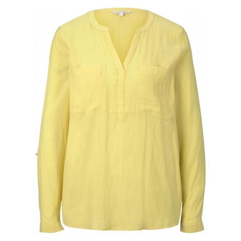 TOM TAILOR DENIM Damen Tunikabluse mit Brusttaschen, gelb
