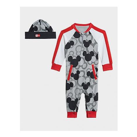 Adidas Disney Mickey Mouse Einteiler - Mgh Solid Grey / Black / White / Vivid Red, Mgh Solid Gre