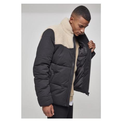 Urban Classics Sherpa Mix Boxy Puffer Jacket blk/darksand