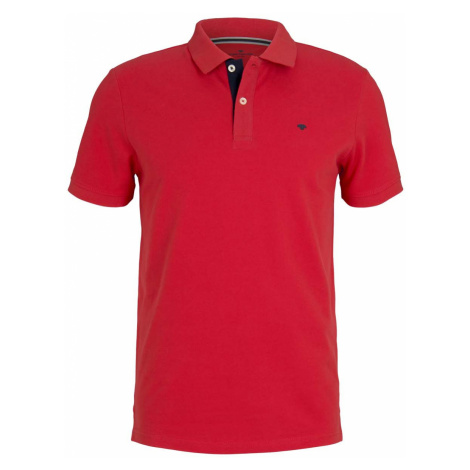 TOM TAILOR Herren Basic Poloshirt, rot