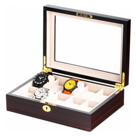 Rothenschild Uhrenbox RS-1087-10E für 10 Uhren ebony