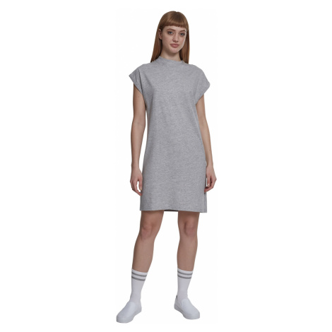 Urban Classics Kleid Damen LADIES TURTLE EXTENDED SHOULDER DRESS TB1910 Grau Grey