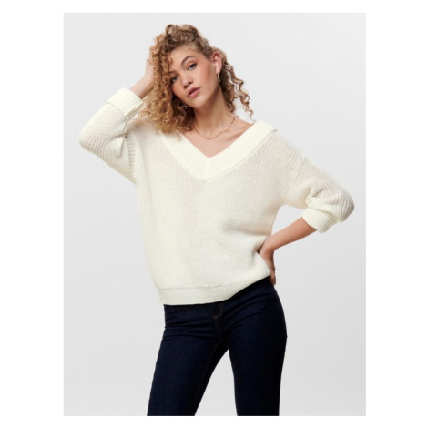 ONLY Melton Pullover Weiß