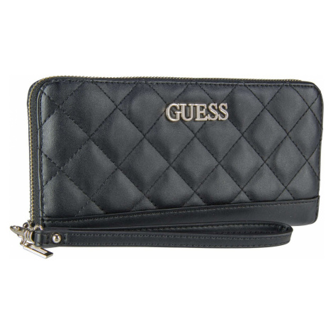 Guess Langbörse Illy SLG Large Zip Around Black (0.6 Liter)