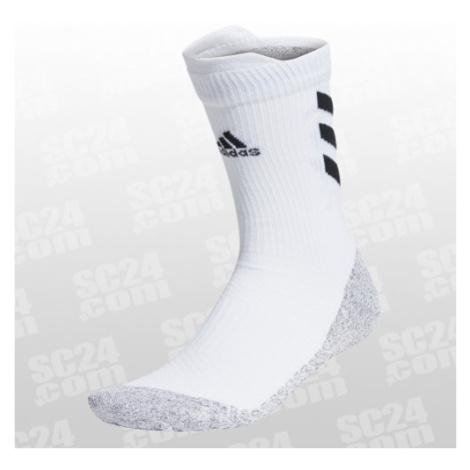 Adidas Alphaskin Traxion Crew Lightweight Cushioning Socks weiss/schwarz Größe 40-42