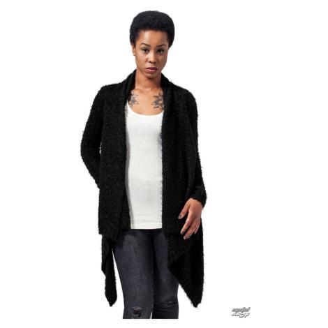 Pullover Frauen - sweat Cardigan - URBAN CLASSICS - TB1350-blk/blk