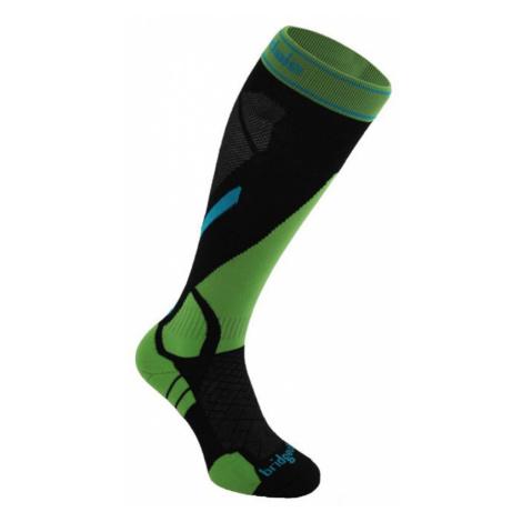 Socken Bridgedale Ski Lightweight black/green/843