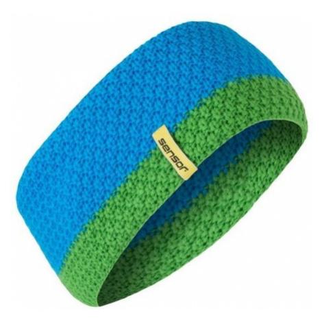 Gestrickter Stirnband Sensor blue