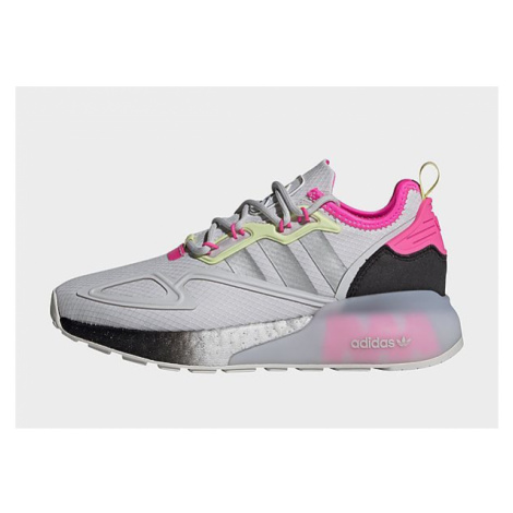 Adidas Originals ZX 2K Boost Schuh - Dash Grey / Silver Metallic / Yellow Tint, Dash Grey / Silv