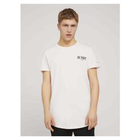 TOM TAILOR DENIM Herren T-Shirt mit Bio-Baumwolle , beige