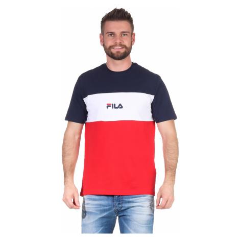 Fila T-Shirt Herren ANOKI BLOCKED TEE 688468 Mehrfarbig R69 True Red-Black Iris-Bright White