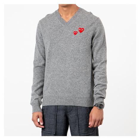 Comme des Garçons PLAY Crewneck Sweatshirt Grey