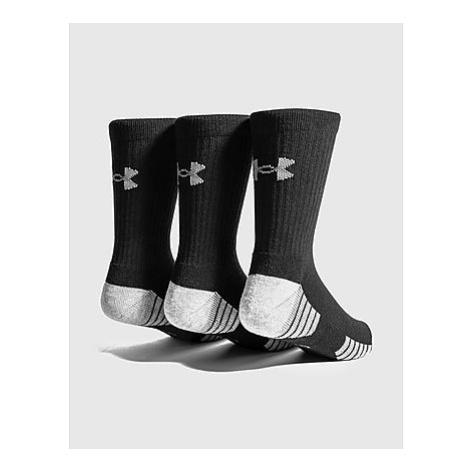 Under Armour 3er-Pack HeatGear Tech Crew Socken - Black - Damen, Black