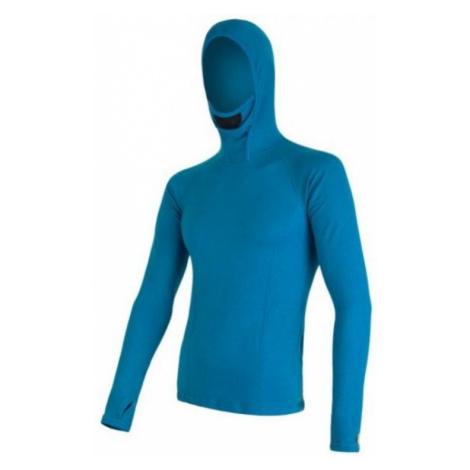 Herren T-Shirt mit Kapuze Sensor MERINO DOUBLE FACE blue 16200085