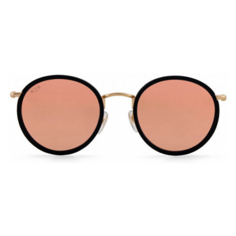 Kapten & Son Sonnenbrille Amsterdam Matt Black Peach Mirrored