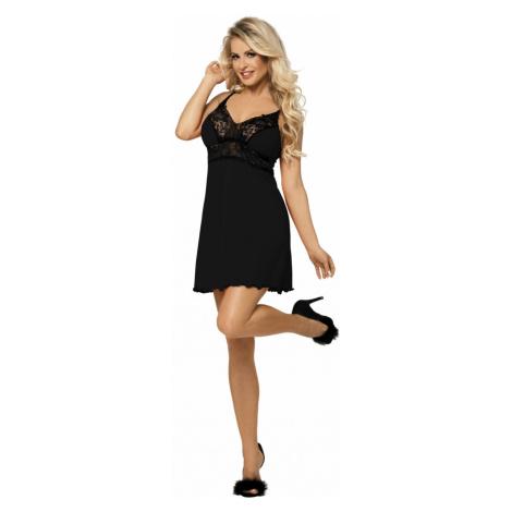 Luxuriöse Nachthemden für Damen Natasha black DKaren