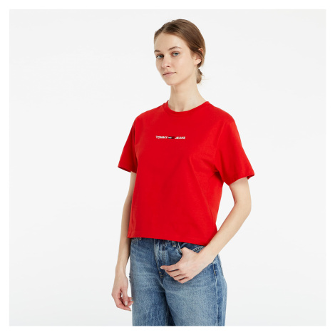 Tommy Jeans Linear Logo Tee Red Tommy Hilfiger