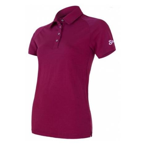 Damen T-Shirt Sensor Active Polo Kurzarm lilla 19100005