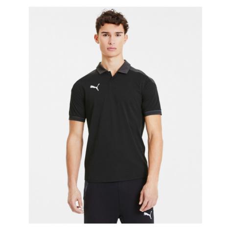 Puma teamFinal 21 Polo T-Shirt Schwarz