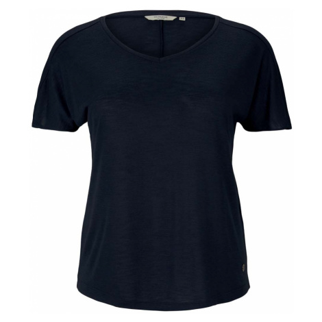 TOM TAILOR MY TRUE ME Damen T-Shirt mit Ärmeldetail, blau