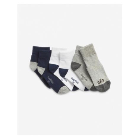 GAP Socks 3 pcs kids Schwarz Weiß Grau