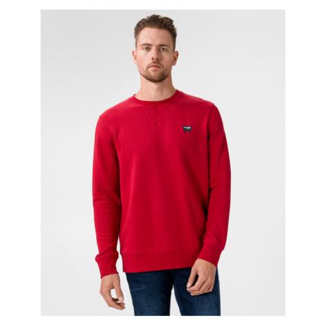 Wrangler Sign Off Sweatshirt Rot