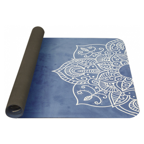Unterlage  Yoga YATE Yoga Mat natürlich gummi / muster C / blau