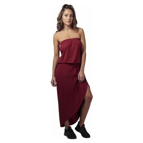 Urban Classics Kleid Damen LADIES VISCOSE BANDEAU DRESS TB1508 Dunkelrot Burgundy