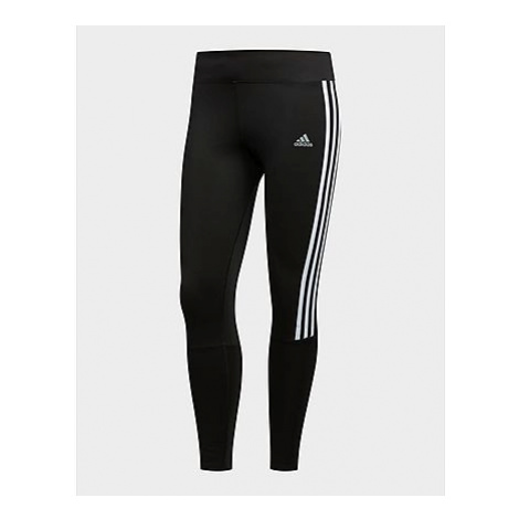 Adidas Running 3-Streifen Tight - Black / White - Damen, Black / White