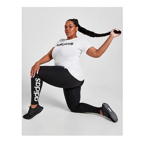 Adidas Essentials High-Waisted Logo Leggings - Große Größen - Black / White - Damen, Black / Whi