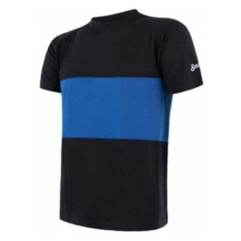 Herren T-Shirt Sensor MERINO AIR PT Kurzarm schwarz/blau 18100008
