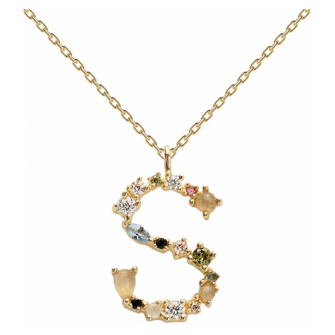 P D Paola CO01-114-U Damen-Halskette Buchstabe S