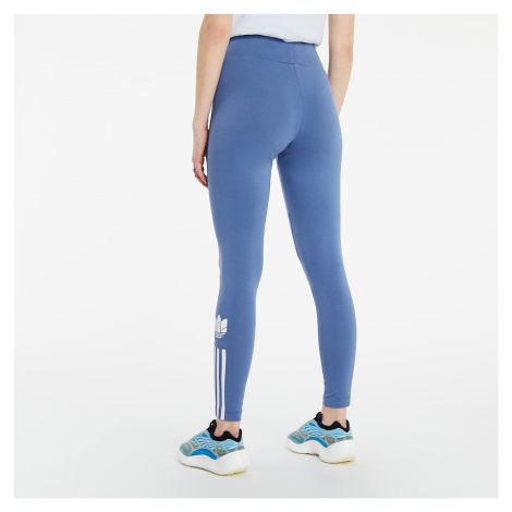 adidas Adicolor 3D Trefoil High-Waisted Tights Crew Blue