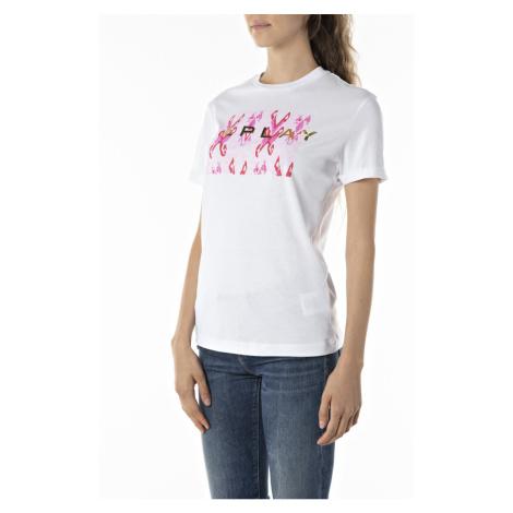 Replay Damen Kurzarm T-Shirt Fine Cotton Jersey